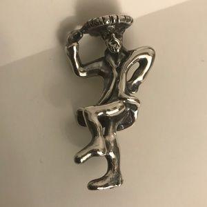 Sterling Silver Spanish Dancer Figurine Pendant